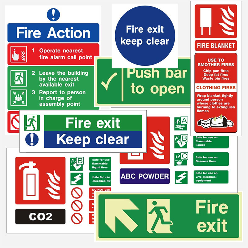 Fire Safety Signs, Fire Exit Signs and Signage, Vulcan Fire