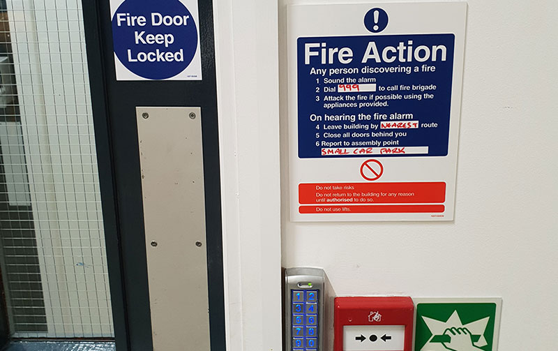 Fire Exit Doors. Prevent the spread of fire and smoke